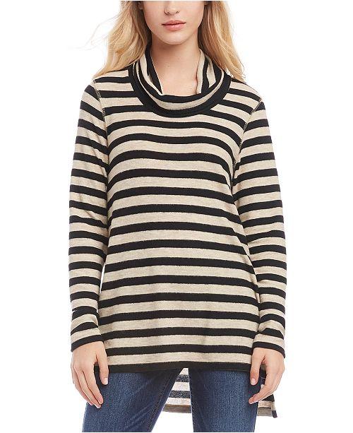Karen Kane Striped Cowl-Neck Sweater