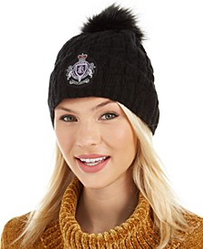 Cable-Knit Patch Beanie