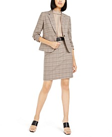 Plaid Jacket, Sleeveless Top, & Belted Skirt Created For Macy's