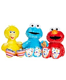 Sesame Street Isaac Mizrahi Big Bird Plush, Cookie Monster Plush & Elmo Plush