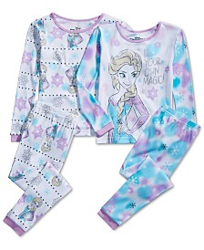 AME Little & Big Girls 4-Pc. Cotton Frozen Pajama Set