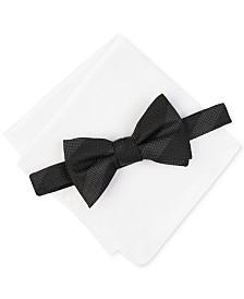 Alfani Men's Crispin Stripe Bow Tie & Pocket Square Set, Created For Macy's