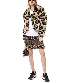 Michael Michael Kors Faux-Fur Cropped Jacket