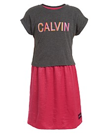 Calvin Klein Big Girls Layered-Look Dress