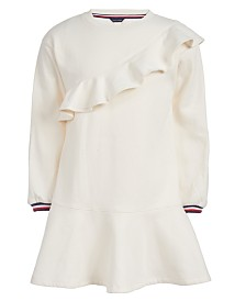 Tommy Hilfiger Toddler Girls Ruffled Sweatshirt Dress