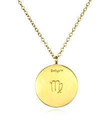 """Satya Jewelry Virgo Zodiac Sapphire Gold 18"""" Necklace"""