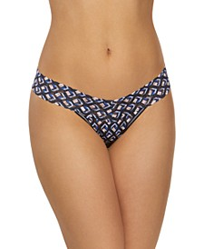 Women's One Size Block Out Low Rise Thong 731584