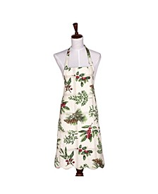 C&F Home Winter Botanical Apron