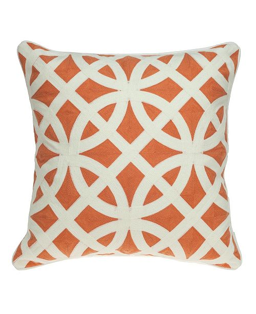Parkland Collection Chano Transitional Multicolored Pillow Cover