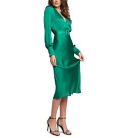 Bardot Belted Satin Maxi Dress