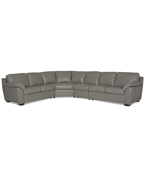 Furniture Lothan 4-Pc. Leather Sectional Sofa, Created For Macy's