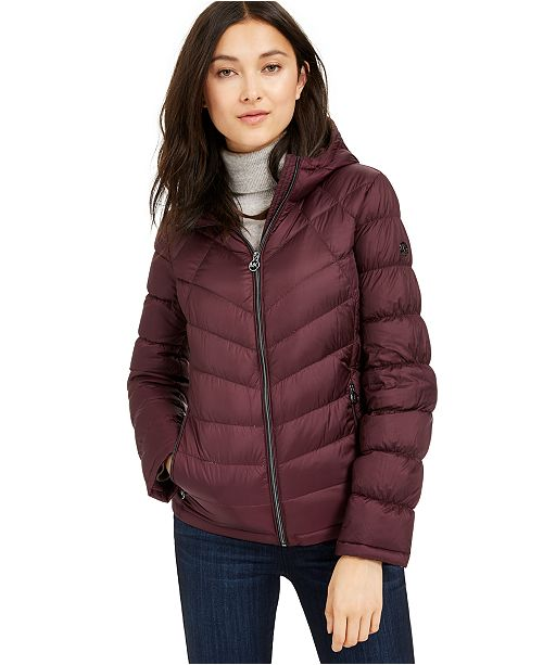 Michael Kors Petite Packable Down Puffer Coat, Created for Macy's