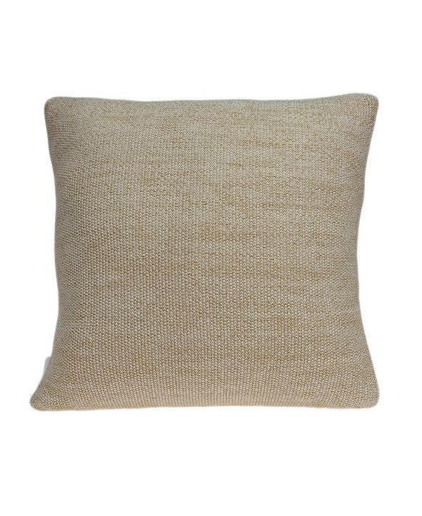 Parkland Collection Gila Transitional Tan Pillow Cover with Polyester Insert