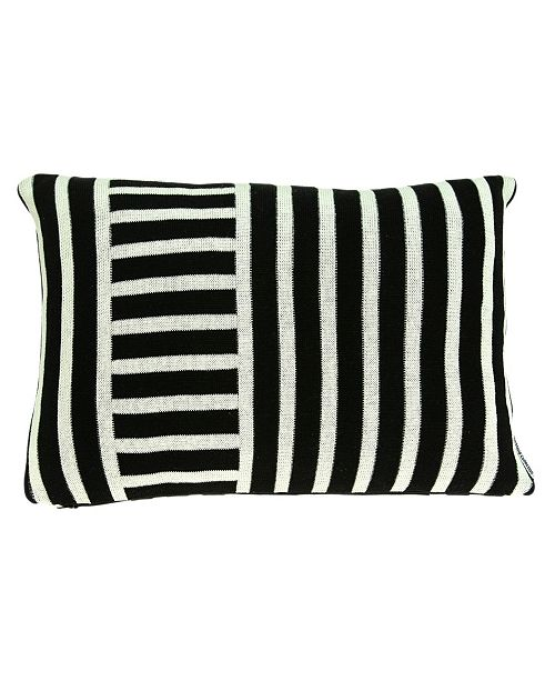 Parkland Collection Essex Transitional Black Pillow Cover