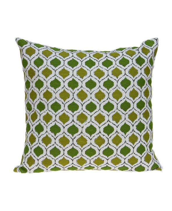 Parkland Collection Saria Transitional Multicolor Pillow Cover With Down Insert