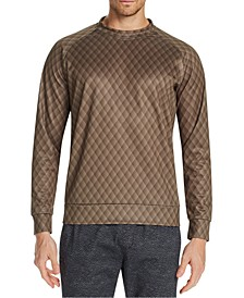Men's Slim-Fit Stretch Quilted Print Sweat Shirt