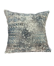 Taaza Transitional Multicolor Pillow Cover With Down Insert