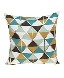 Dorsa Transitional Multicolor Pillow Cover with Polyester Insert