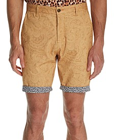 Men's Modern-Fit Stretch Paisley Shorts
