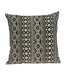 Kanta Transitional Beige Pillow Cover With Down Insert