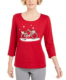 Embellished Bicycle Top, Created For Macy's
