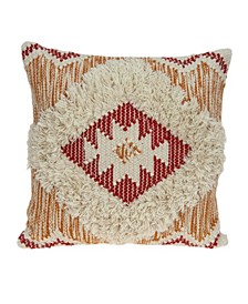 Zara Bohemian Multicolor Pillow Cover with Polyester Insert