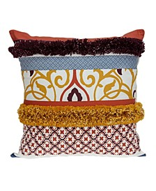 Juno Bohemian Multicolor Pillow Cover With Down Insert