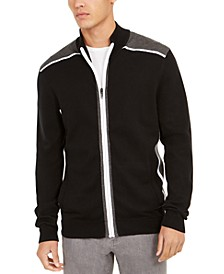 Men's Classic-Fit Colorblocked Full-Zip Cardigan, Created For Macy's