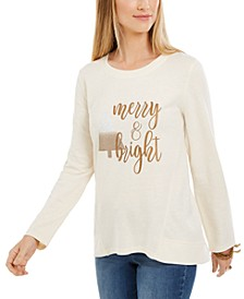 Metallic Graphic Sweatshirt, Created For Macy's