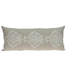 Georgia Transitional Beige Pillow Cover With Down Insert