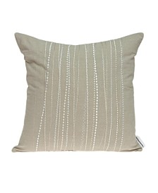 Parkland Collection Sarina Transitional Beige Pillow Cover With Poly Insert