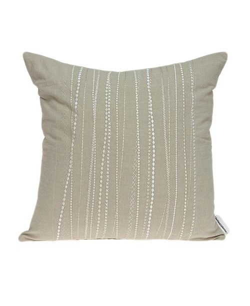 Parkland Collection Sarina Transitional Beige Pillow Cover with Polyester Insert