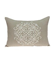 Tara Traditional Beige Pillow Cover With Down Insert