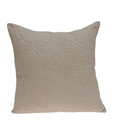 Yogi Transitional Tan Pillow Cover With Down Insert