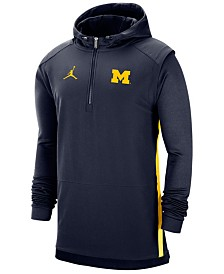 Jordan Men's Michigan Wolverines Pregame Quarter-Zip Pullover