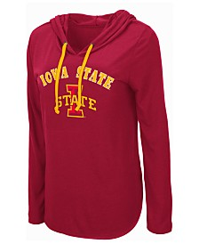Colosseum Women's Iowa State Cyclones Lightweight Hooded Long Sleeve T-Shirt