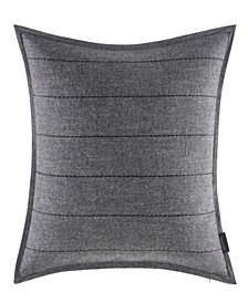 Jeans Co Pinecrest Charcoal Quilted Line 18 Square Throw Pillow