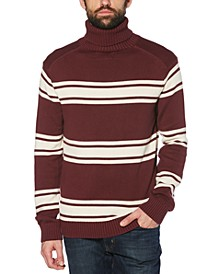 Men's Slim-Fit Striped Turtleneck Sweater
