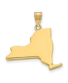 State Charm in 14k Yellow Gold