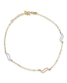 S-Link Anklet in 14k White, Rose and Yellow Gold