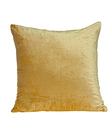 Danbury Transitional Yellow Solid Pillow Cover with Polyester Insert