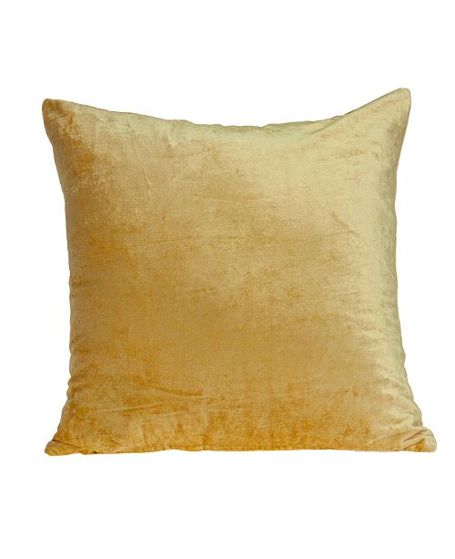Parkland Collection Danbury Transitional Yellow Solid Pillow Cover with Polyester Insert