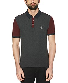 Men's Slim-Fit Colorblocked Polo Shirt