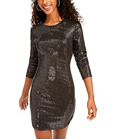 Juniors' Sequined Bodycon Dress