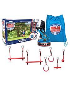 American Ninja Warrior™ 34 Ft Ninjaline Outdoor Play Jungle Gym System For Kids
