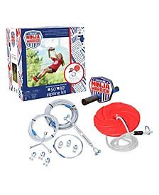 American Ninja Warrior™ 80Ft Zipline Outdoor Play Adventure Zip Line System For Kids