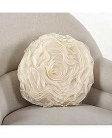 """Rose Design Throw Pillow, 16"""" x 16"""""""