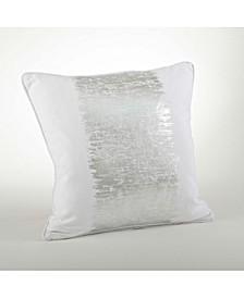 "Metallic Banded Design Pillow, 20"" x 20"""