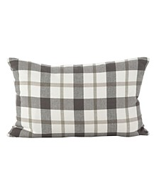 "Classic Plaid Pattern Cotton Throw Pillow, 12"" x 20"""