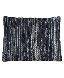 "Throw Pillow with Chindi Rag Design, 16"" x 23"""